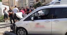 Polis aracı görev başında kaza yaptı!
