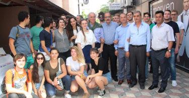 YABANCI ÖĞRENCİLERDEN SANAT SOKAĞINDA EL SANATLARI SERGİSİ