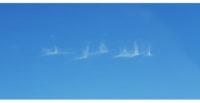 Afrin sınırında  bulutların  oluşturduğu  'Allah Azim' yazısı  büyük ilgi çekti