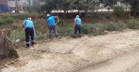 Yeni Sanayi Sitesi'nde trapez kanallarda temizlik çalışmaları