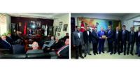 Vali Ata, ATSO ve HESOB'a veda ziyaretlerinde bulundu