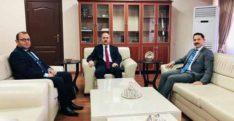 Kayabaş ve Çobanoğlu'ndan  Karamehmetoğlu'na  hayırlı olsun ziyareti