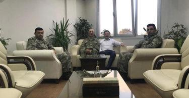 İDRİS ACATÜRK Ve FERHAT VURAL, KAYMAKAM KAYABAŞI'NA ZİYARET