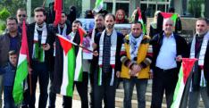 Reyhanlı'daki Filistinliler İsrail'in saldırılarını kınadı