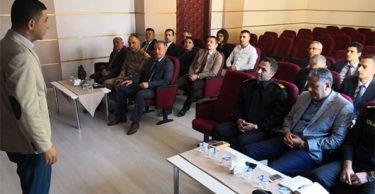 Uyuşturucu ile mücadele kapsamında toplantı düzenlendi