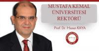 PROF. DR. HASAN KAYA YENİDEN MKÜ'YE ATANDI