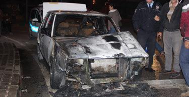 Hatay'da korkutan araç yangını