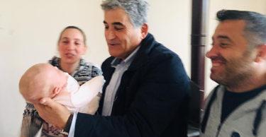 BAŞKAN YAMAN'DAN NİL BEBEĞE 'HOŞGELDİN' ZİYARETİ