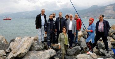 İskenderun Sahili, Sportif Olta Balıkçılığı Yarışması ile şenlendi