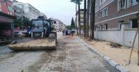 CUMHURİYET MAHALLESİ'NEKALDIRIM YAPILIYOR