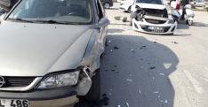 Maddi hasarlı trafik kazası meydana geldi