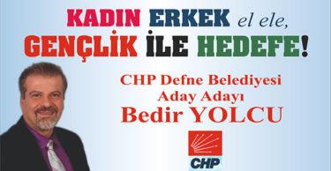 Defne CHP'de öne çıkan  A.adayı  Bedir Yolcu…