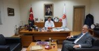 GENEL MÜDÜR  NECMETTİN ERKAN'A  NEZAKET ZİYARETİ