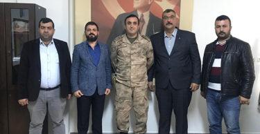 MHP Defne İlçe Yönetimi Defne İlçe Jandarma Komutanlığını ziyaret etti