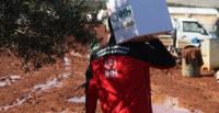 Suriye'deki sel mağdurlarına yardım