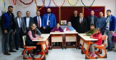 Onarımı Yapılan Hürriyet İşitme Engelliler Ortaokulunun Açılışı