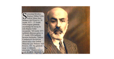 """MEHMET AKİF ERSOY 145. YAŞ GÜNÜNDE ANILDI"""