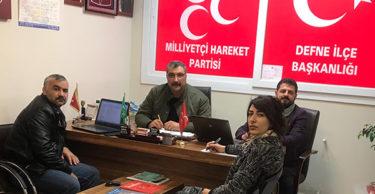 MHP Defne'de sandık çalışmalarına başladı