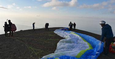 Yılın son günü yamaç paraşütüyle uçtular
