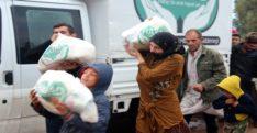 Suriyelilere gıda ve kışlık kıyafet yardımı
