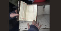 Sehpa yandı, Kur'an-ı Kerim zarar görmedi