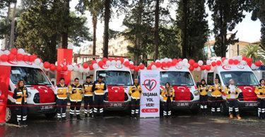 6 yeni ambulans