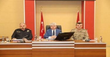 Seçim Güvenlik Toplantısı Vali Doğan Başkanlığında Yapıldı