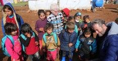 Sinan Albayrak, savaş mağduru çocuklarla buluştu