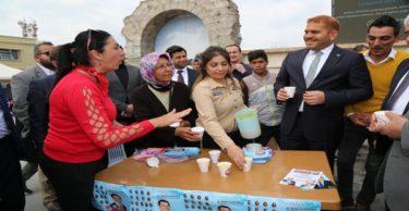 İbrahim Güler  CHP standını ziyaret etti