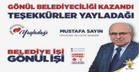Mustafa Sayın'dan Teşekkür Mesajı