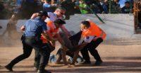 Hatayspor – Adana Demirspor maçının ardından saha karıştı