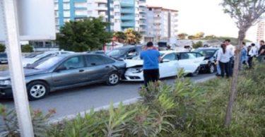 Tansiyonu düşen sürücü zincirleme kazaya neden oldu
