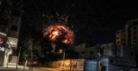 İsrail AA Ofisinin'de Olduğu Binayı Vurdu