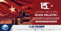 Antakya Belediye Başkanı İzzettin Yılmaz:  15 TEMMUZ'DA MİLLETİMİZ VATAN SEVGİSİNİ DÜNYAYA HAYKIRDI