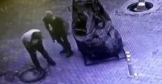 Hatay'da rögar kapağı hırsızları kamerada