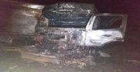 Bariyerlere çarparak alev alan tırın sürücüsü ağır yaralandı