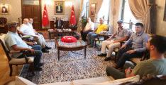 TGC ÜYELERİ VALİ DOĞAN'I ZİYARET ETTİ