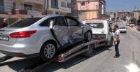 Hatay'da maddi hasarlı trafik kazası