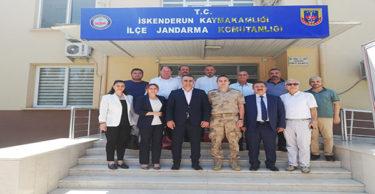 MHP'den İskenderun İlçe Jandarma Komutanlığına ziyaret