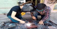 Hurda ve mozaik sanatına kadın eli değdi