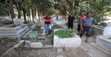 Reyhanlı'da bazı mezarlar tahrip edildi