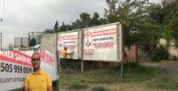 Genç mühendis billboard ilanıyla iş arıyor
