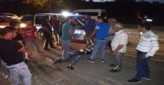 Pikabın arkasına asılan çocuk kaza geçirdi