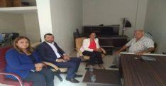 AK Parti Antakya İlçe Başkanı Emrullah Gülen,  Defne İlçe Başkanı  Kenan Türkmen, AK Parti Hatay Milletvekili Sabahat Özgürsoy Çelik
