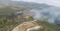2 hektar orman ve makilik alan yandı