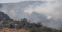 Tarihi Bakras Kalesi'nde yangın