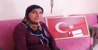 YPG'nin roketle şehit ettiği Rıfat Sinirli'nin eşinden Barış Pınarı Harekatı'na destek