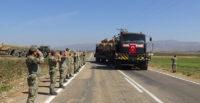 Komandolar silah arkadaşlarını sınır birliklerine uğurladı
