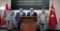 İçişleri Bakan Yardımcısı Mehmet Ersoy ve Jandarma Genel Komutanı Orgeneral Arif Çetin, Valiliği ziyaret etti