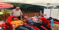 Hatay'da Türk Kızılayına kan bağışı